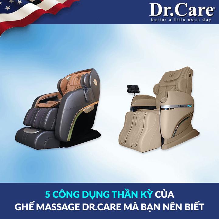 5 ĐIỀU CHƯA KỂ VỀ GHẾ MASSAGE DR.CARE