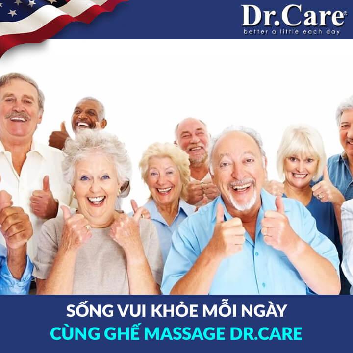 SỐNG VUI KHỎE MỖI NGÀY CÙNG GHẾ MASSAGE DR.CARE