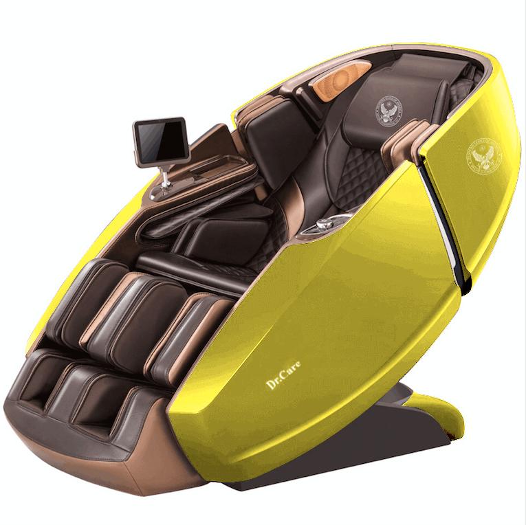 Ghế massage Phi Thuyền Vũ Trụ SS 919X – Màu Vàng Lemon – nội thất Nâu Đen