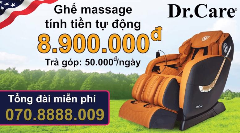 Ghế massage tính tiền tự động giá rẻ - 8.900.000đ -Trả góp 50.000đ/ngày