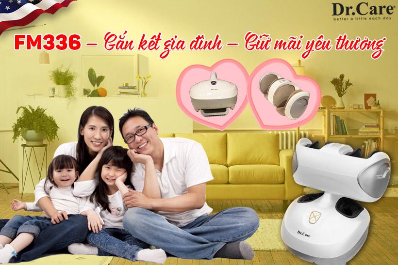 FM336 với hai bộ máy massage tách biệt – Gắn kết gia đình – Giữ mãi yêu thương.