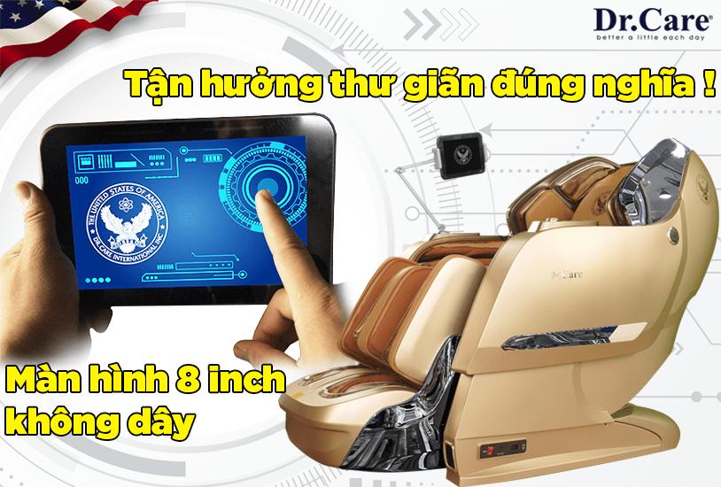 Duy nhất hiện nay, Xreal 929S có màn hình cảm ứng 8 inch không dây, cảm ứng điều khiển mát-xa, thoải mái không còn lo vướng víu, tận hưởng thư giãn đúng nghĩa !.