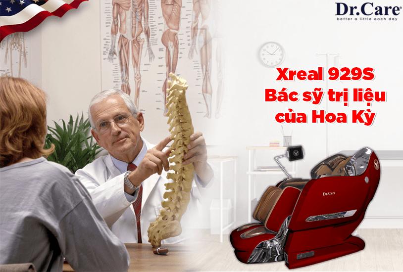 """Xreal 929S, Bác sỹ trị liệu của Hoa Kỳ, """"Sức khỏe của bạn, hãy để chuyên gia nhiểu kinh nghiệm chăm sóc""""."""