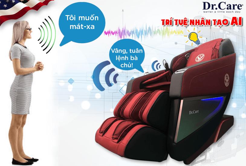 Được tích hợp công nghệ trí tuệ nhân tạo AI (Artificial Intelligence), giờ đây chỉ cần ra lệnh bằng giọng nói, ghế AZ849S sẽ thực hiện các kiểu mát-xa theo ý muốn. Một chiếc ghế mát-xa thông minh thật sự !