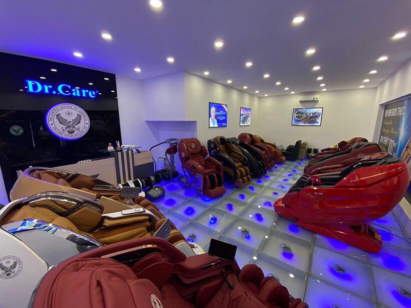 Showroom tại địa chỉ bán ghế massage của Dr.Care