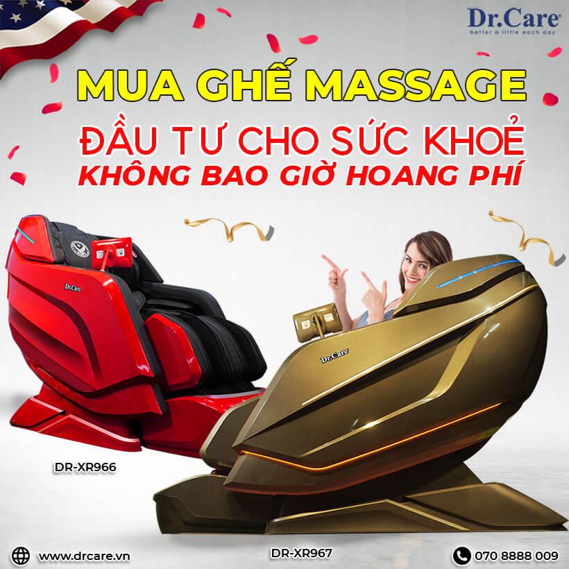 Ghế massage -  Đầu tư cho sức khoẻ không bao giờ hoang phí