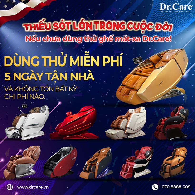Ghế massage Dr.Care với nhiều mẫu mã cho bạn chọn lựa
